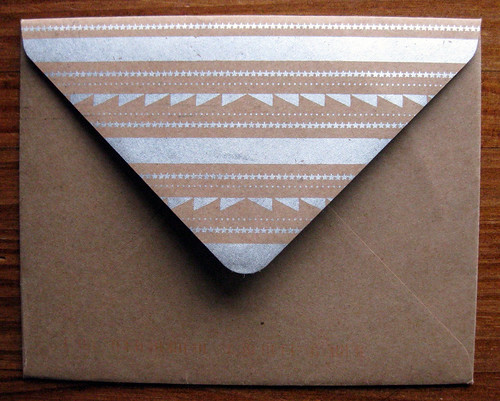 Hammerpress brown paper envelope + silver