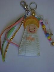 Chaveiro de Santinhas (Leidy Oliveira) Tags: artesanato feltro chaveiro
