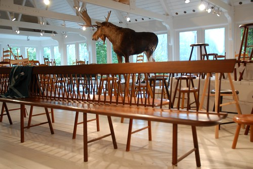 Shaker Bench and Moose at Windsor Chairmakers