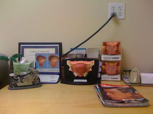 A urologist's desk