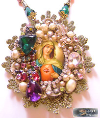 Immaculate Heart of Mary Cameo (inspirational) Tags: cameo virginmary artisan immaculateheartofmary vintagecameo religiousnecklace catholicjewelry virginmarycameo catholicnecklace virginmarynecklace handcraftedcatholicnecklace