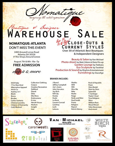 Nomatique Boutique & Designer Warehouse Sale