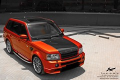 Project Kahn Range Rover Sport (Talal Al-Mtn) Tags: orange sport canon rebel 22 shot 4x4 rr tir