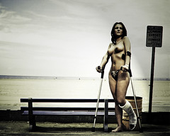 11002014537 nude at the sea (fascina) Tags: leg sac lac cast slc llc gesso gips caster lafs yeso sats casted platre safs lats slwc llwc ingessatura ingessata