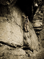 An out of work climber... (mike.palic) Tags: rock bored climbing solo bouldering