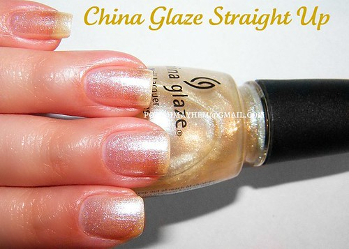 China Glaze Straight Up