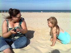 Hannah and Roxy (racheldonovan) Tags: beach hannah norfolk roxy aunty horsey