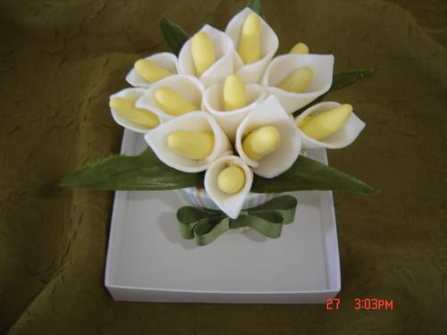 Sabonetes bouquet de copos-de-leite