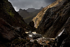 Rain and sunshine (rosalof) Tags: mountains sunshine rain iceland rocks hills sland landmannalaugar inthemountains vanagram