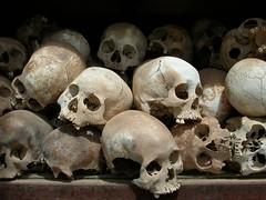 Skulls in Cambodia