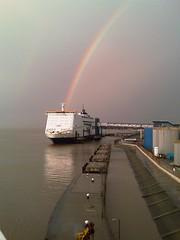 Pride of Hull Rainbow (BiggestWoo) Tags: sea cloud sun clouds river rainbow day cloudy pride hull humber prideofhull riverhumber flickraward seasunclouds