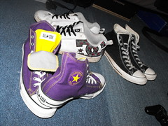 My Most Used Pairs (Dirty Panda) Tags: black court shoe star se dc kevin all purple lol double converse taylor chuck tounge whoring graffix montgry
