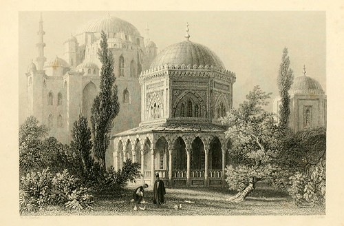 007- Mausoleo de Soliman el Magnifico y Roxalana-Las bellezas del Bosforo 1838-W.H. Bartlett