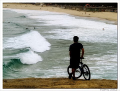 Free wheels (Jordan_K) Tags: boy brazil praia beach water colors beautiful bike bicycle riodejaneiro wonderful photography freedom fly back cool waves mood artistic scenic free jordan thoughts monica feeling dreamer ipanema surfin feelfree rdj