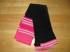 Cozy legs - Black and Pink (extra long)