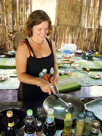 At Grandma's Thai Recipes cooking school - Chiang Mai, Thailand