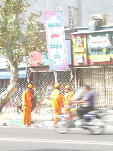 Cleaning after Quds Day march
