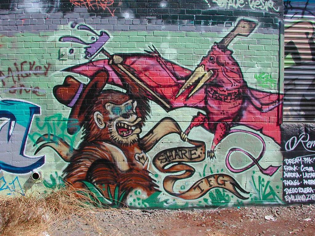 Share Graffiti Oakland, California.