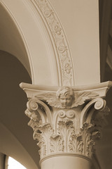 Comper capital (Lawrence OP) Tags: capital oxford cherub putto staggers comper ststephenshouse seenonflickr