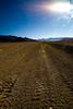 Route traversant un désert