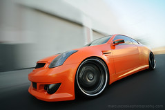 Rig Shot - Randy's Custom Supercharged Widebody G35 Coupe (CandlestickPark) Tags: orange motion car skyline nikon paint nissan wheels amp automotive tokina rig pearl tvs custom import audio g35 lowered dtla suede polished carbonfiber gauges falken bbk infiniti supercharged hoya coilovers kenstyle widebody suctioncup recaro hotimportnights showcar d300 bodykit ndfilter nd400 enginebay 21s vortec bigbrakekit wilwood downtownlosageles rigshot 1116mm nd400x vqengine 9stop 1116mmf28 racingsetas