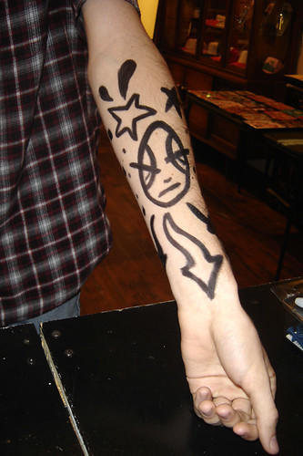 Krink Arm Drawing On Henry