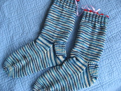 Boomerang Reflection socks Finished 2
