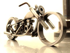Ironhead Sporty nuts and bolts metal sculpture (11)