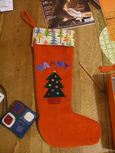 Christmas stocking for son number 1