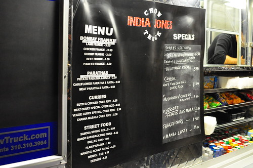 INDIA JONES CHOW TRUCK MENU