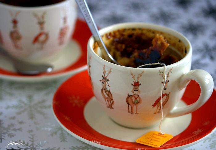 Crème brûlée au thé de Noel