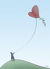 Don't go too Far / Love is in the Air (Ben Heine) Tags: life blue summer sky game love nature lines illustration copenhagen denmark lost flow star freedom search kyoto couple play air hill dream happiness jalousie rope ciel relationship human amour simplicity hopes littleman change string doubt minimalism quest talks simple bonheur climate perdu stylized hunt colline vie jeu chasse rverie toile cerfvolant corde protocol loveisintheair flyakite condition recherche metaphore ficelle theartistery jalousy qute milosc petersquinn doutes benheine espoirs fildariane thesuperbmasterpiece