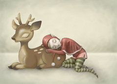 WIP Reindeer & Elf - Color Test