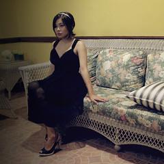 [フリー画像] [人物写真] [女性ポートレイト] [アジア女性] [フィリピン人] [ドレス]      [フリー素材]