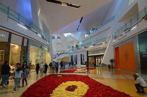 Inside Libeskinds Crystals entertainment and retail complex