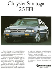 Chrysler Saratoga in Finland (Hugo90-) Tags: auto car ads advertising saratoga plymouth literature dodge chrysler sales promotional kcar