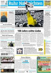 Ruhr Nachrichten (Dortmund) 19.12.2009: 100 Jahre Borussia Dortmund (BVB)