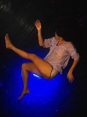PC142648-1  () Tags: blue water beauty underwater floating swing e3     fuerzabruta olynpus