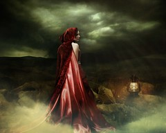 Wuthering Heights. (MC BAILY) Tags: light red art classic love beautiful night clouds sadness fantasy cape novel moors mystical haunting cathy lantern peaks magical somber lovestory heartbreak bronte brokenheart wutheringheights charlottebronte heathcliff betrayed macic betrayel artofimages bestportraitsaoi