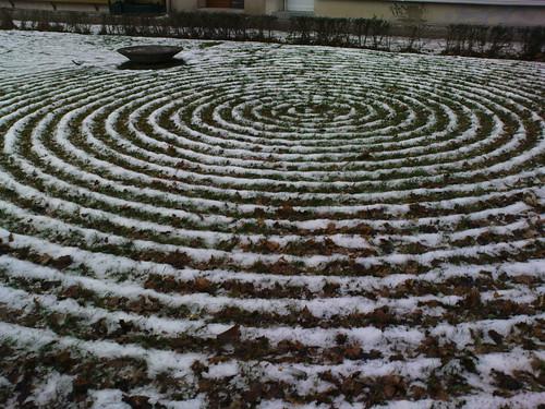 Spirale im Schnee