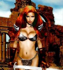 "Adriana Lima as ""Red Sonja - She Devil With A Sword"" (DarkJediKnight) Tags: sword comicbooks conan adrianalima barbarian redsonja sorcery"