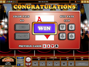 free Star Appeal gamble bonus game