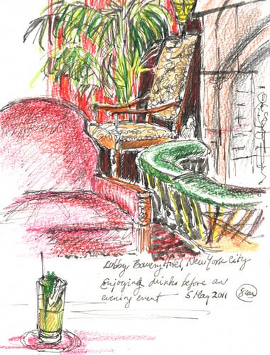 Bowery Hotel Lobby Bar, New York, NY