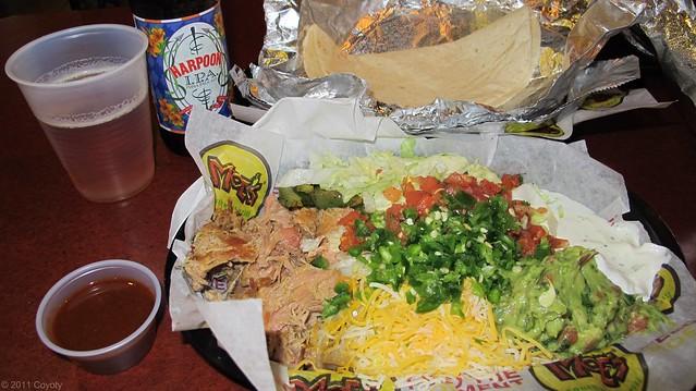 Moe's Pork Fat Sam fajitas (unassembled)