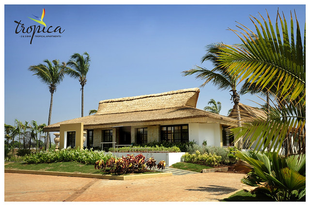 Site office is in this tropical club house at  in Om Developers' Tropica, Blessed Township at Ravet PCMC, Pune 412 101