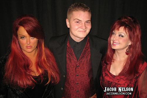 Jacob Nelson, Wynonna and Naomi doing the Elvis Eyebrow Raise