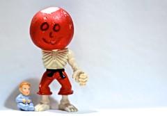 One Armed Radish Man With Baby (ricko) Tags: toys radish radishman baby