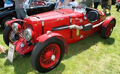 Vintage car - 1934 Aston Martin LM16 (rossendale2016) Tags: car vintage aston martin lm16 sports red spft top spokes wheels exhaust outside body two seater radial tyres pneumatic