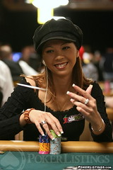in the air. (Liz Lieu) Tags: liz cards lasvegas chips ambassador pokertournament lieu worldseriesofpoker lizlieu pokerdiva propokerplayer theriocasino chilipokercom 10klimitholdemevent