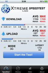 iPhone 3GS speedtest w/ b-mobile 3G USIM